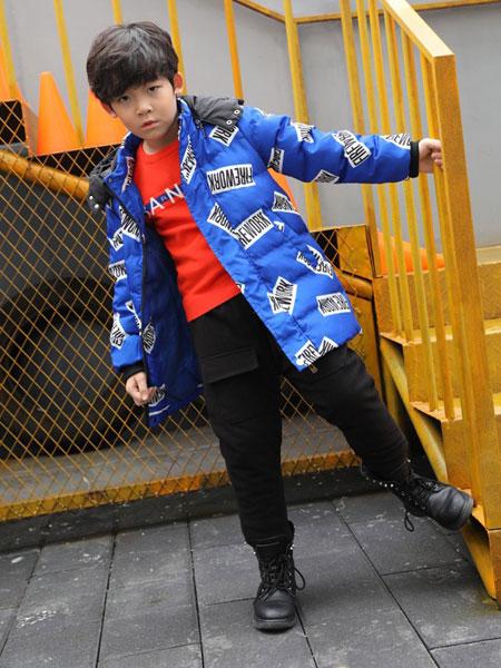 班吉鹿banjilu童装品牌2019秋冬大童儿童时髦洋气长袖长裤两件套韩版潮