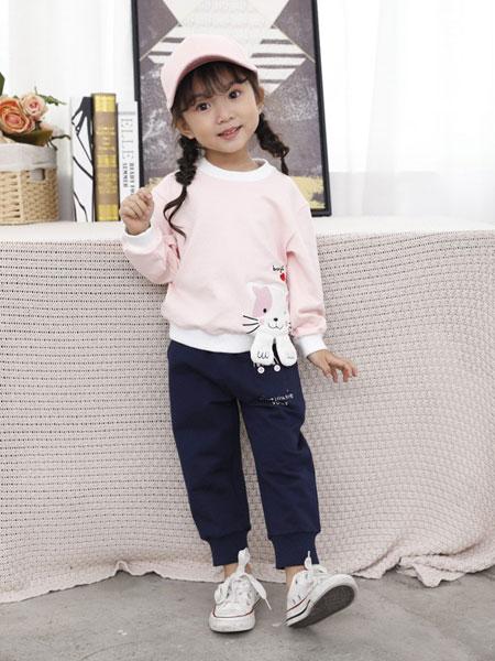 班吉鹿banjilu童装品牌2019秋冬猫咪刺绣加绒保暖长袖卫衣学生少女绒衫上衣