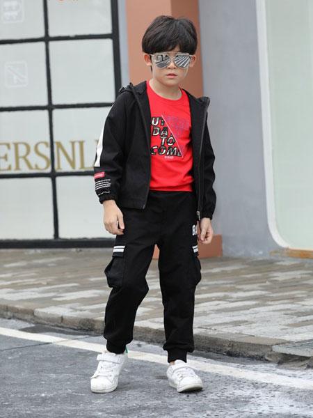 班吉鹿banjilu童装品牌2019秋冬童时髦洋气长袖长裤两件套韩版潮