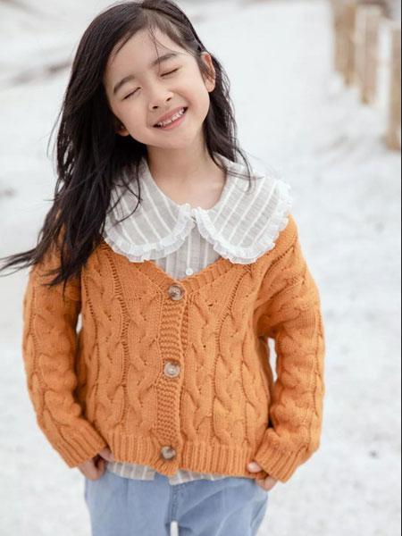 LT kids童装品牌2019秋冬衫毛衣洋气百搭小童花边领上衣外套毛线开衫