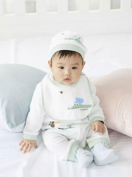 丽婴房童装品牌2019秋季连体衣男女宝宝纯棉薄款长袖哈衣