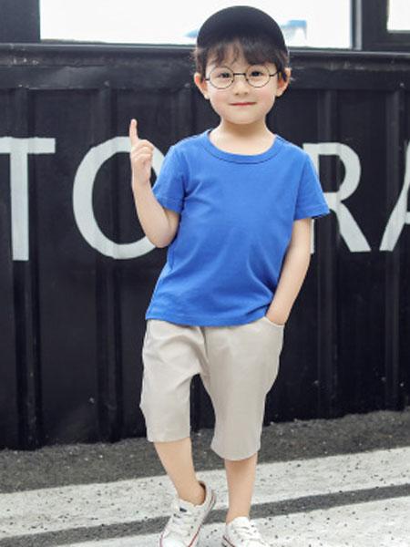 卫思礼童装品牌2019春夏短袖T恤纯棉圆领体恤