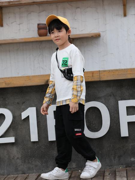 班吉鹿banjilu童装品牌2019秋冬长袖T恤纯棉卫衣春装儿童打底衫春衣