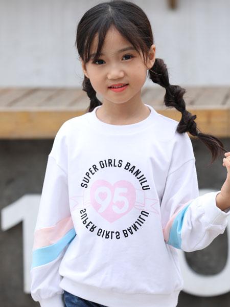 班吉鹿banjilu童装品牌2019秋冬中小童外套假两件字母爆款童装