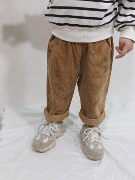 卡琪皇仔童装品牌2019秋季男童灯芯绒裤新款宝宝宽松休闲裤子儿童韩版长裤