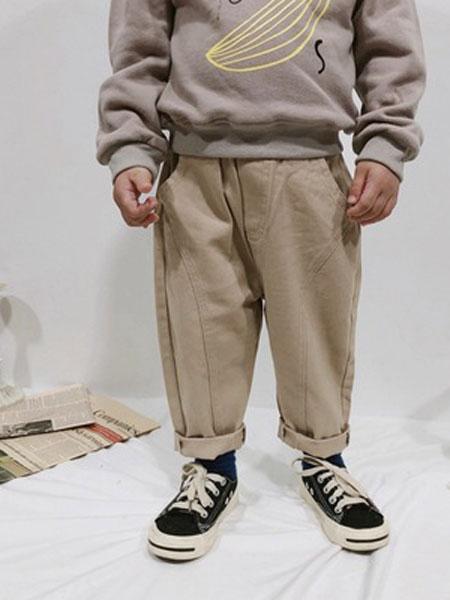 卡琪皇仔童装品牌2019秋季儿童休闲裤韩版宝宝时尚长裤