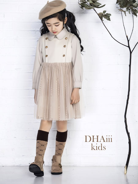 DHAiii.kids童装品牌2019秋冬仙女风蕾丝 半身裙