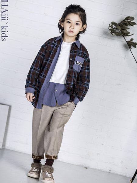 DHAiii.kids童装品牌2019秋冬慵懒韩范学院风上衣格子衬衫潮百搭