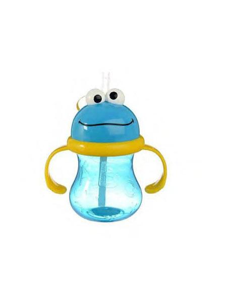 宝宝王国进口母婴优选婴童用品青蛙把手吸管杯学饮杯训练杯 方便易握
