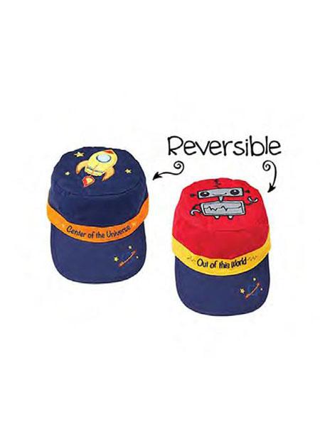 宝宝王国进口母婴优选婴童用品双面遮阳帽鸭舌帽防晒抗紫外线