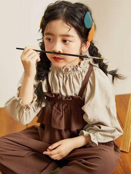 Viciusss童装品牌2019秋冬女童灯笼长袖褶皱淑女衬衫