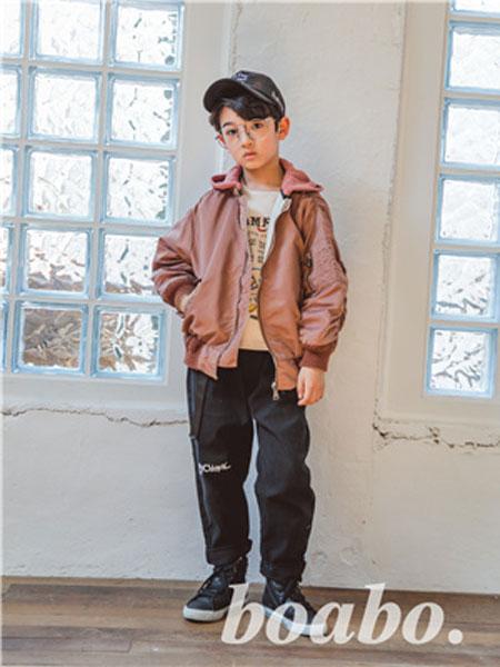 宝儿宝boabo童装品牌2019秋冬潮流脱卸卫衣帽夹克外套