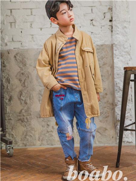 宝儿宝boabo童装品牌2019秋冬休闲男士长袖夹克学生上衣外套