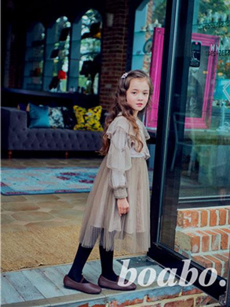 宝儿宝boabo童装品牌2019秋冬仙女雪纺防晒衣新款搭配吊带裙的小披肩外搭开衫