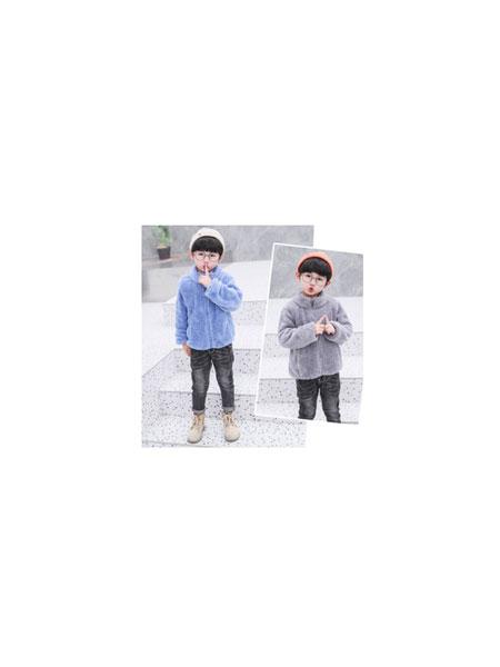卢迪熊/西努克/菲菲虎童装品牌2019秋冬拉男女童毛绒宝宝保暖外套
