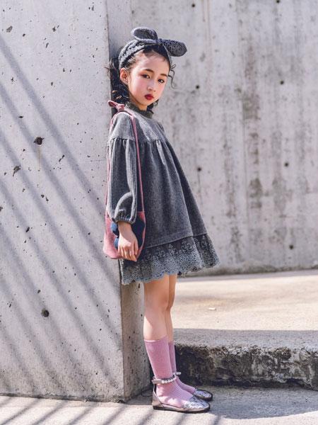 韩米娜风尚童装品牌2019秋冬加厚保暖裙子女童韩版抓绒公主裙