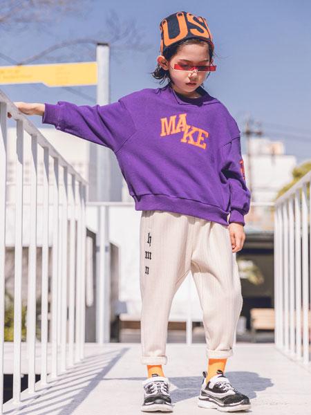 韩米娜风尚童装品牌2019秋冬韩版宽松慵懒超火妍九上衣外套