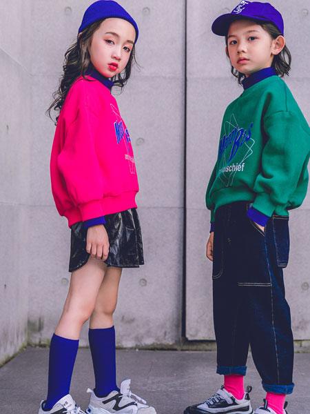 韩米娜风尚童装品牌2019秋冬新款宝宝假两件上衣冬季连帽儿童外衣潮