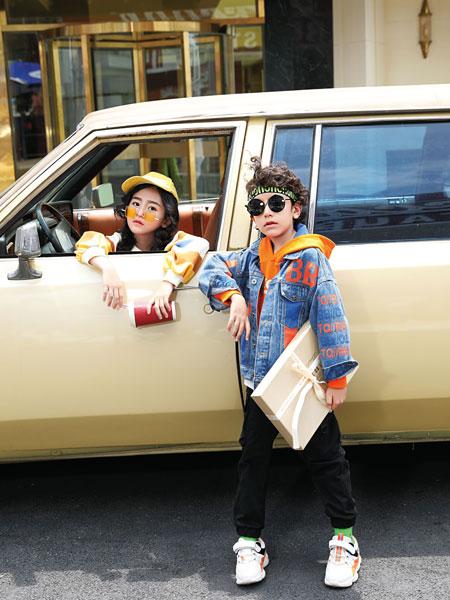 淘气贝贝童装品牌2019秋冬新款韩版童装中大童羊羔绒牛仔衣女