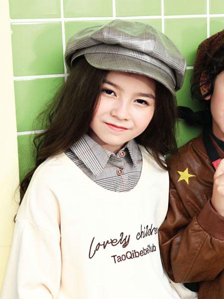 淘气贝贝童装品牌2019秋冬新款中大童背心裙+长袖t恤两件套韩版洋气公主