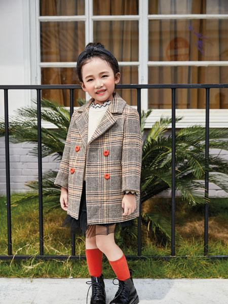 淘气贝贝童装品牌2019秋冬洋气女大童儿童装小女孩中长款外套