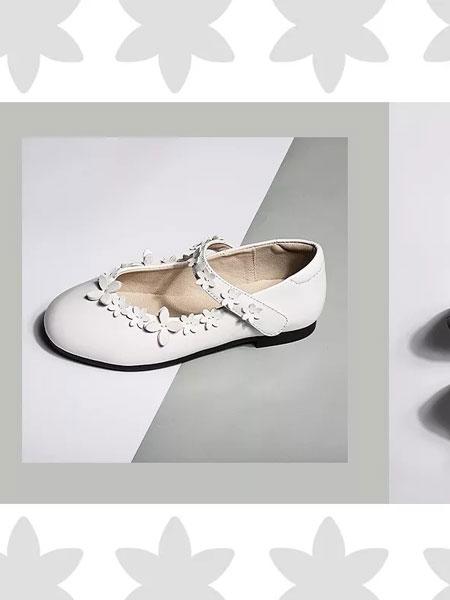 诺米洛童鞋品牌2019春夏公主鞋表演出鞋中大童小学生皮鞋白色女单鞋