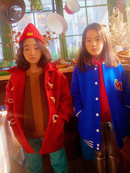 Jelly Mallow童装品牌2019秋冬 男女小童宝宝连帽呢大衣长款外套