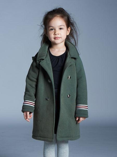 baby baby cool童装品牌2019秋冬男童毛呢外套儿童加厚保暖中长款呢子大衣