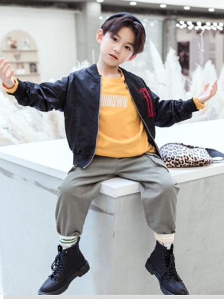 特斯拉佩奇童装品牌2019秋冬新款中大童儿童飞行员夹克男孩棒球服上衣潮