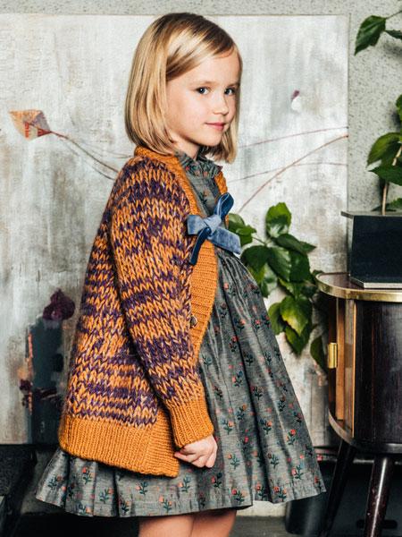 Paade Mode童装品牌2019秋冬超级华丽的连衣裙