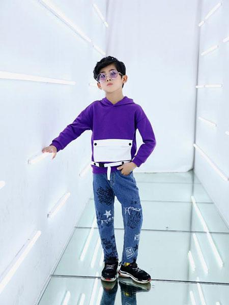 叮当猫潮童童�b品牌2019秋冬中大童两件套韩版时髦儿童套装
