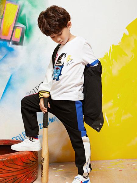 poipoilu(泡泡噜)童装品牌2019秋冬卡通印花长袖T恤