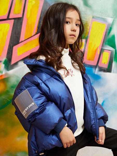 poipoilu(泡泡噜)童装品牌2019秋冬连帽加厚羽绒服