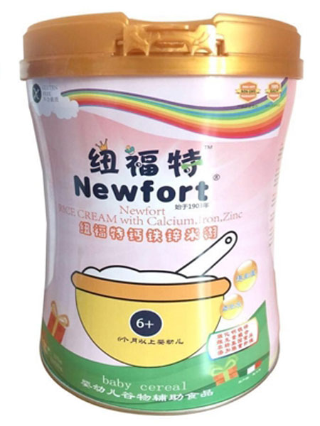 纽福特婴儿食品婴幼儿营养米粉(钙铁锌)