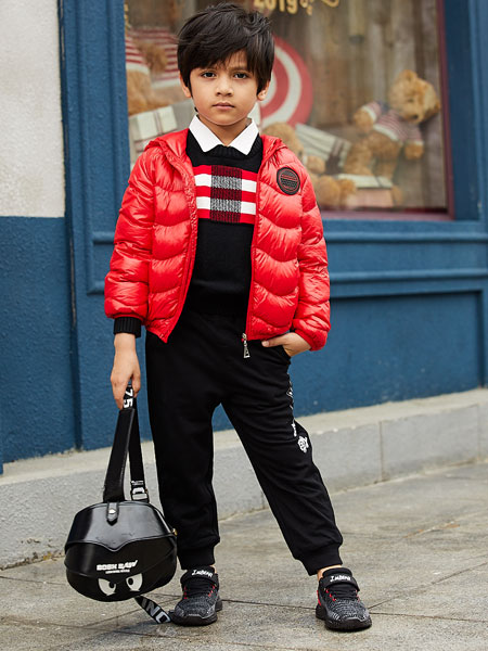 杰米熊童装品牌2019秋冬时尚潮流套装韩版羽绒服