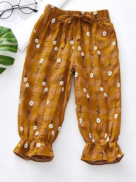 欧芭拉童装品牌2019春夏防蚊灯笼裤