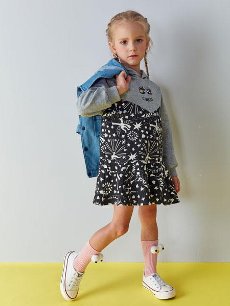 小鲨诺拉童装品牌2019秋冬宽松显瘦休闲复古短款夹克上衣