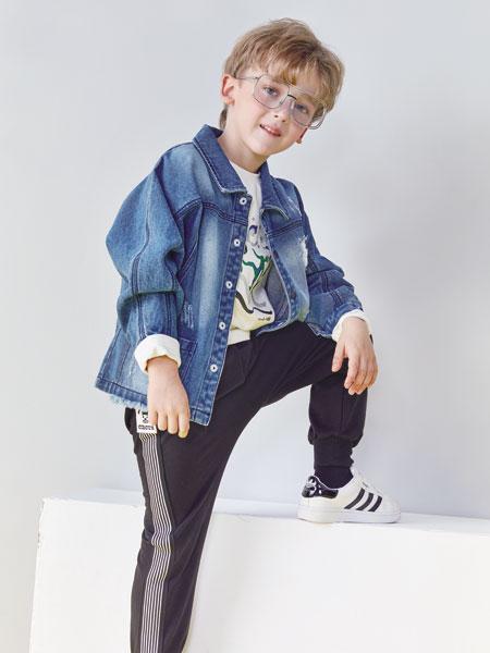 小鲨诺拉童装品牌2019秋冬新款洋气针织开衫棒球服两件套潮