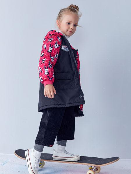 小鲨诺拉童装品牌2019秋冬小童羽绒外套短款