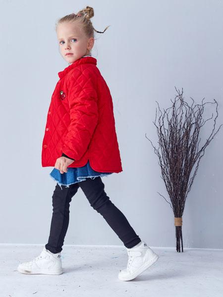 小鲨诺拉童装品牌2019秋冬休闲运动两件套