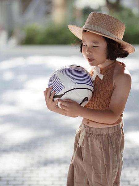 mes kids des flerus童装品牌2019春夏粉色针织毛衣