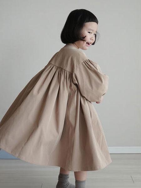 mes kids des flerus童装品牌2019春夏时尚韩版风衣