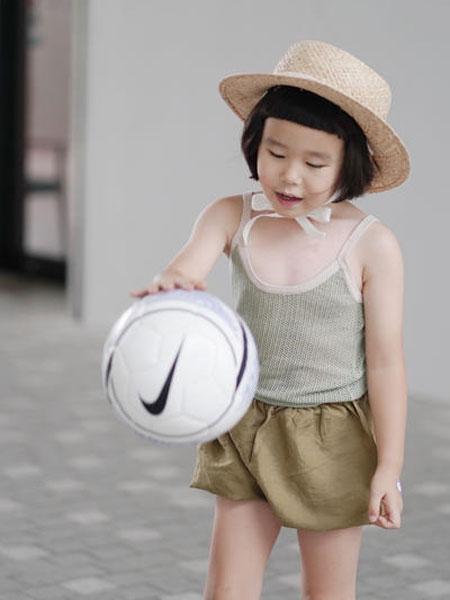 mes kids des flerus童装品牌2019春夏灰色吊带衫