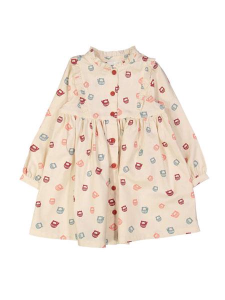 Filou & Friends童装品牌2019春夏五颜六色印花裙子
