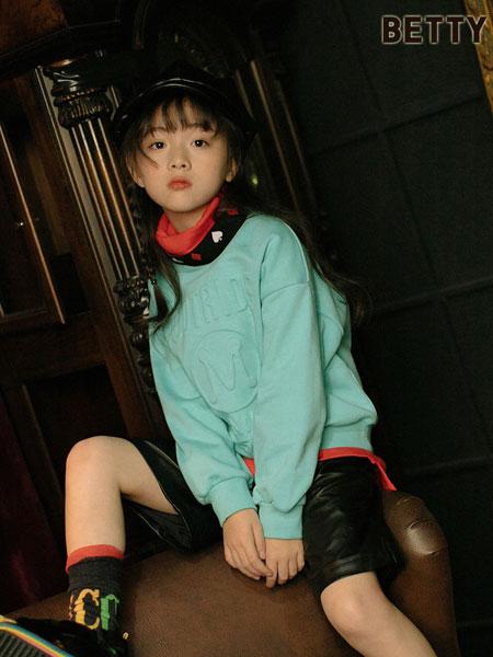 贝蒂小羊童装品牌2019秋冬新款绿色百搭针织毛衣