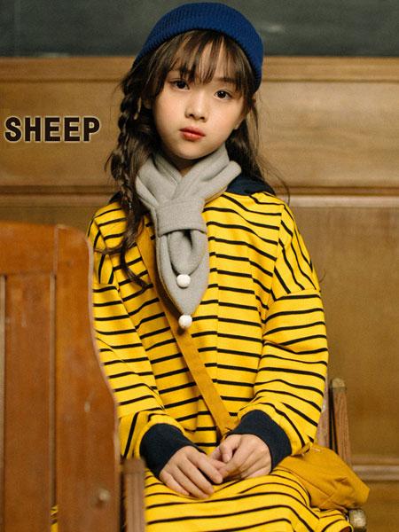 贝蒂小羊童装品牌2019秋冬休闲条纹连帽卫衣