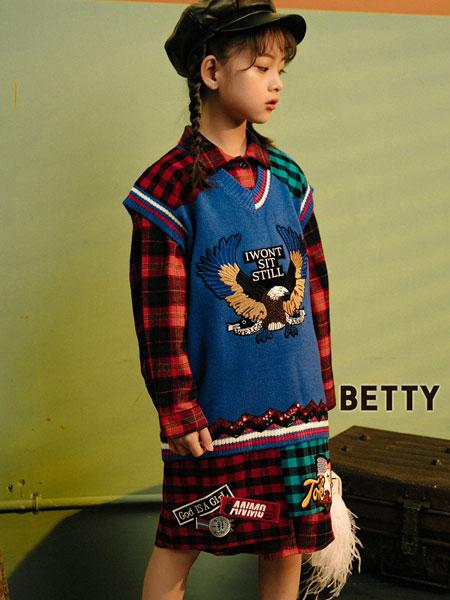贝蒂小羊童装品牌2019秋冬立领长袖羊毛衫保暖套头毛衣