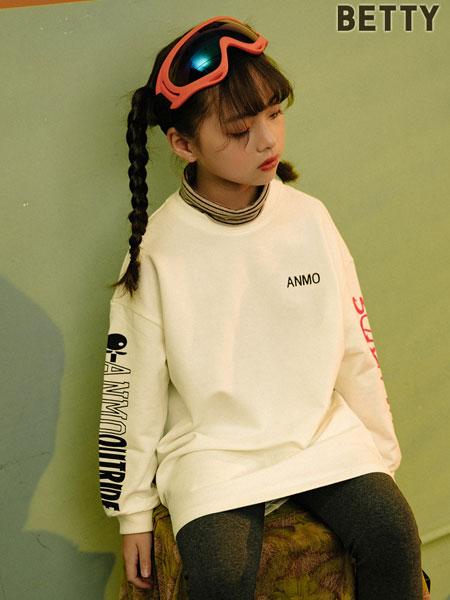 贝蒂小羊童装品牌2019秋冬新款中大童宽松字母长袖上衣