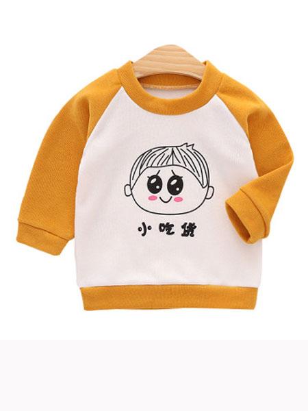 玉阑童装品牌2019秋冬小吃货印花卫衣