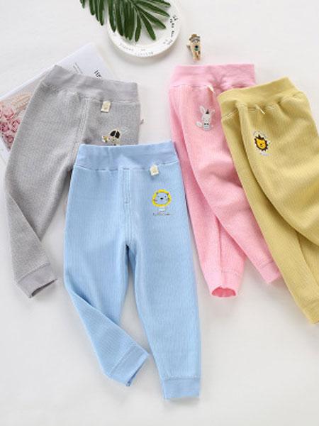 安美童装品牌2019春夏印花棉裤